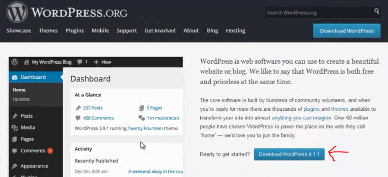 menginstall wordpress 1