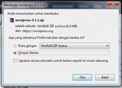 menginstall wordpress 2