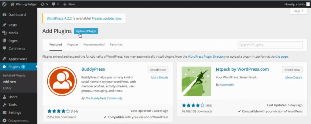 add plugin wordpress