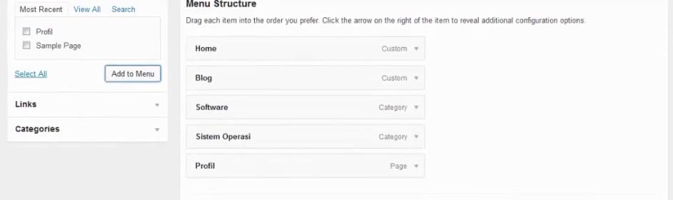 berhasil menambahkan profil pada wordpress