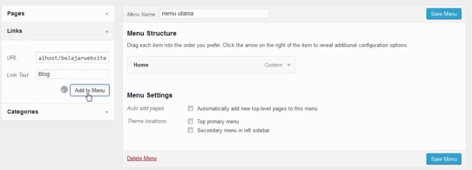 menambahkan menu blog