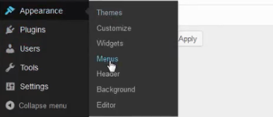 menu menus wordpress