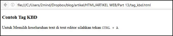tag kbd di html