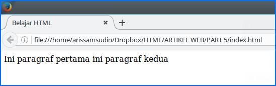 paragraf tanpa tag paragraf html