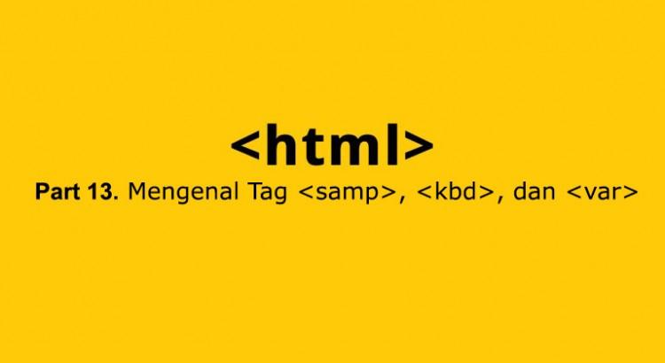 tag samp,kbd, var di html