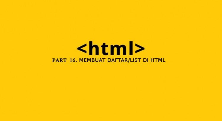 cara membuat daftar list di html