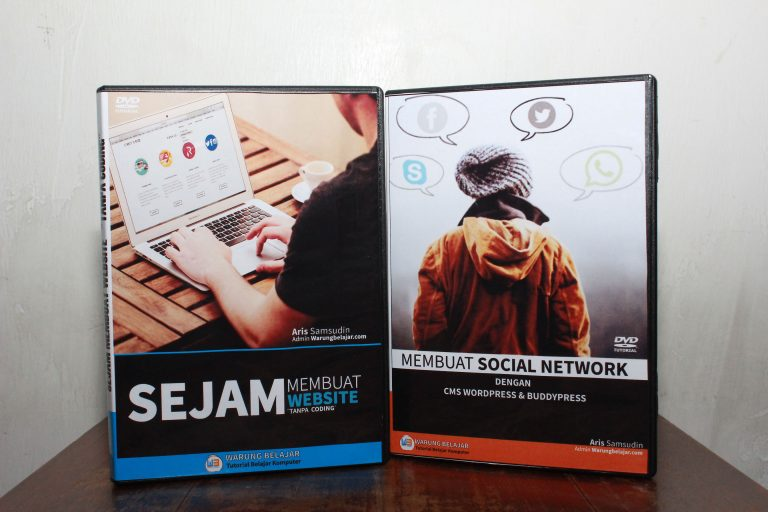 "DVD Tutorial Sejam Membuat Website + Bonus ""Membuat Social Network dengan CMS Wordpress & Buddypress"""