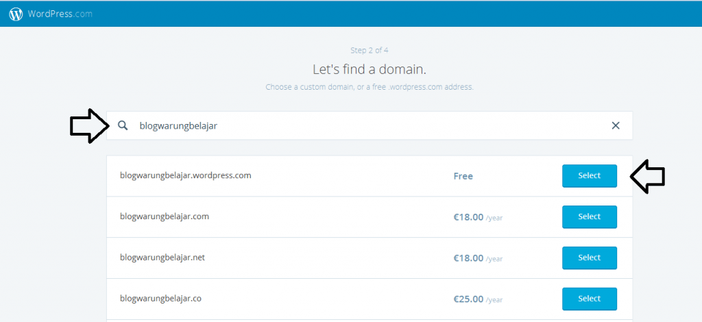 memilih domain blog