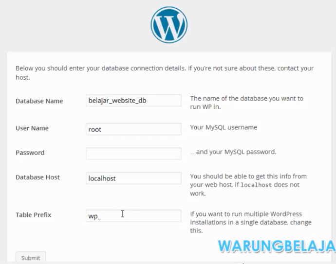 install wordpress 13