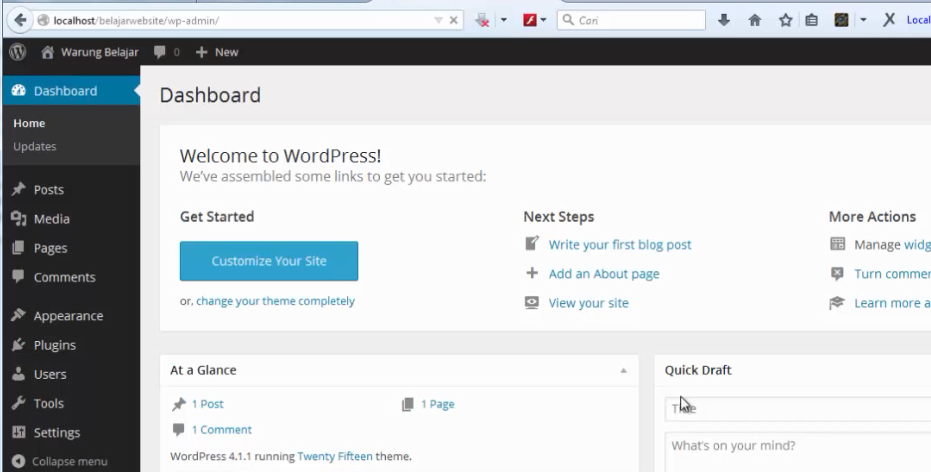 install wordpress 18