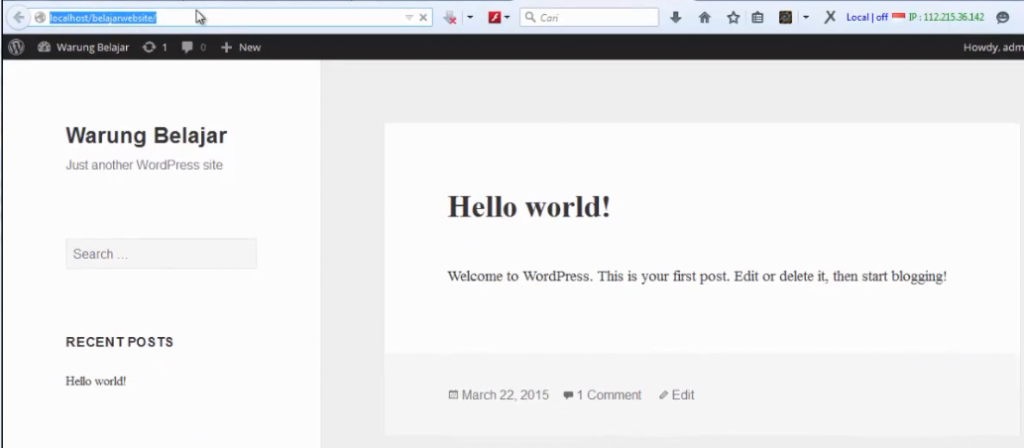 install wordpress 20
