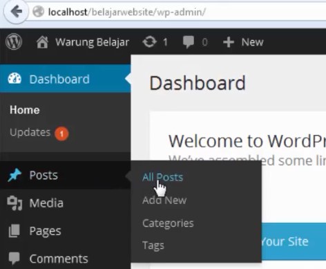 Cara Membuat Post di wordpress