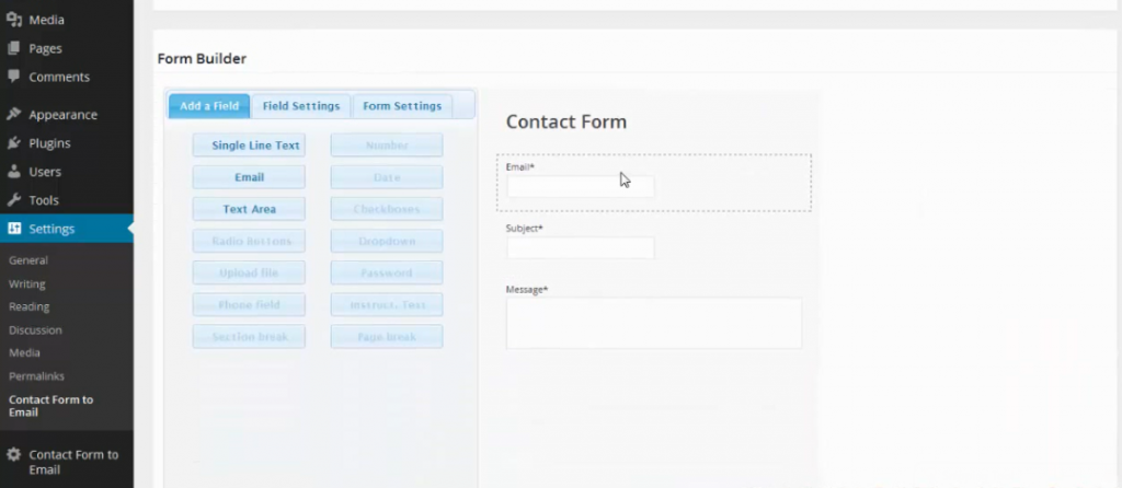 form builder contact form