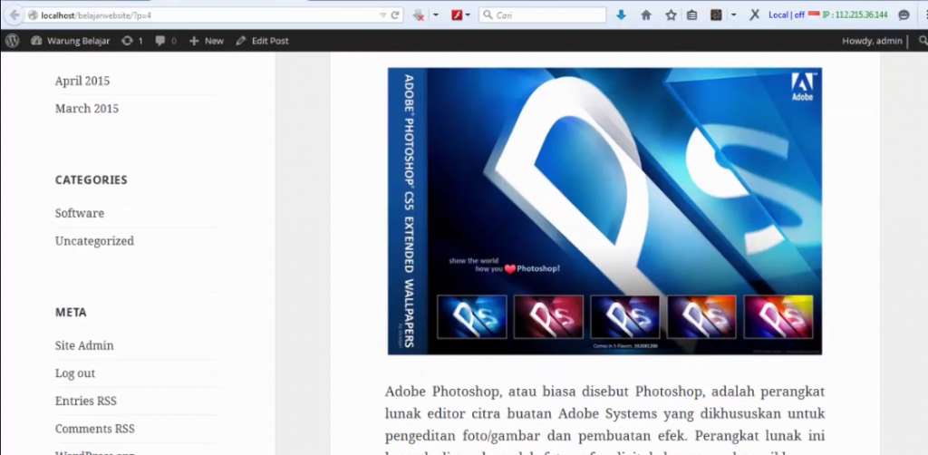 hasil post wordpress