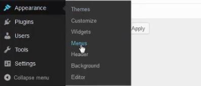 menu menus wordpress