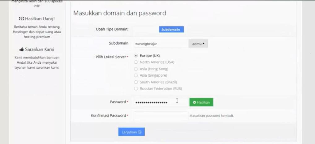 memilih domain idhostinger