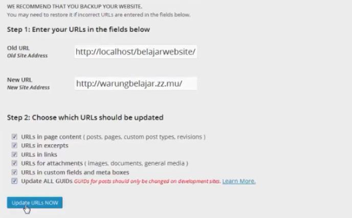 update url dengan plugin blue velvet