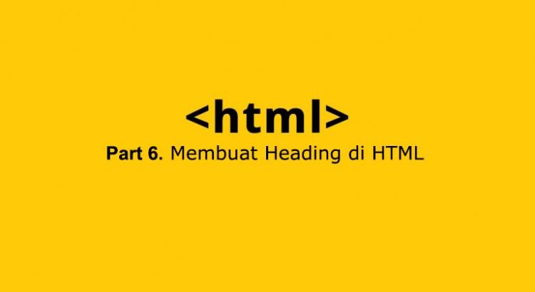 membuat heading di html