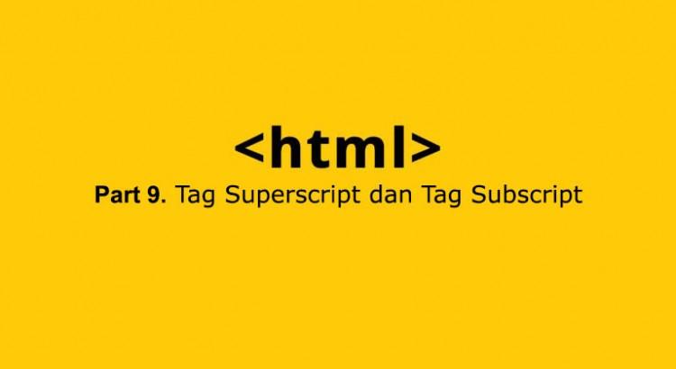 tag superscript subscript di html