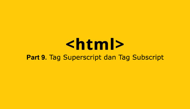 tag superscript subscript di html