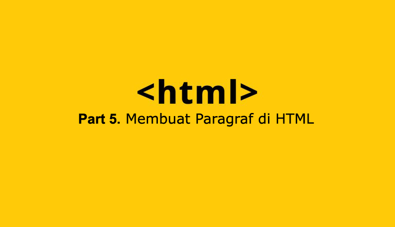 Membuat paragraf di html