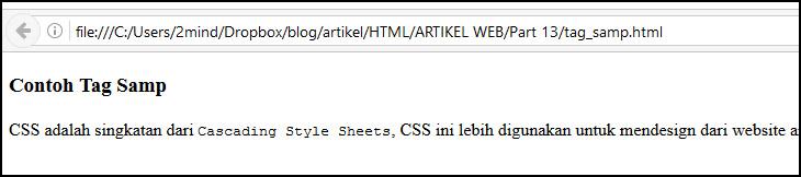 tag samp di html