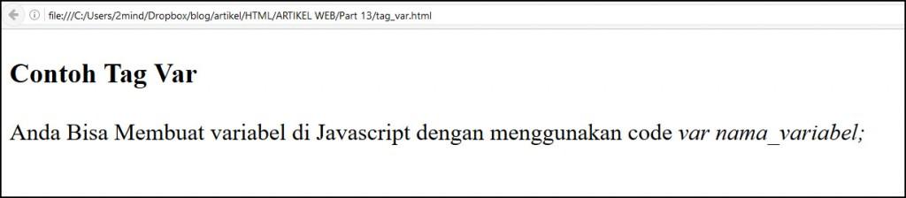 tag var di html