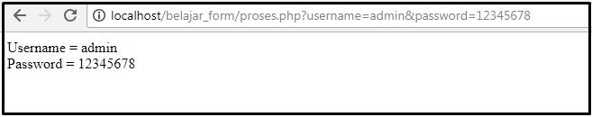 menampilkan inputan form get pada php