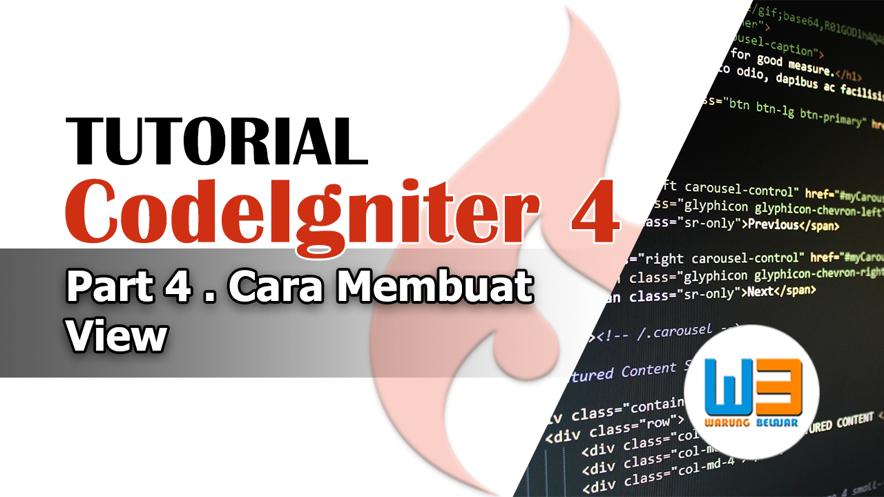 Tutorial Codeigniter 4 – Part 4 – Membuat View di Codeigniter 4